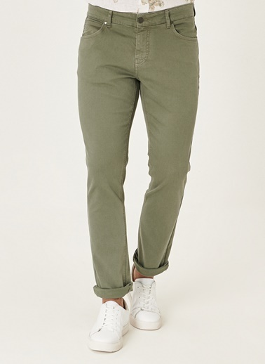 Beymen Business Slim Fit Flex Fit Pantolon 4B0121200002 Yeşil
